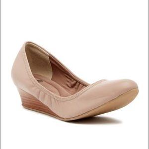 Nude Wedge Ballet Flats